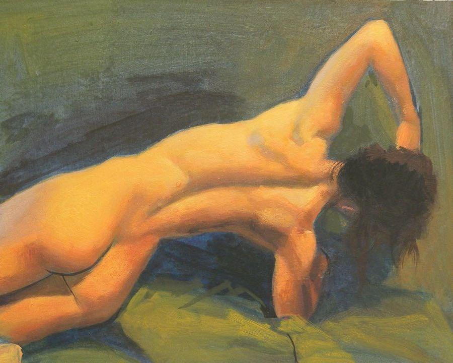 """""""Stretch"""" original fine art by Peter Orrock"""