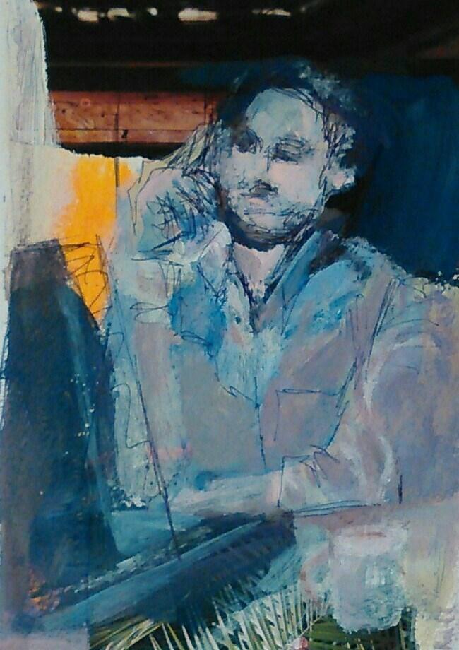 """Processing"" original fine art by Ann Rudd"
