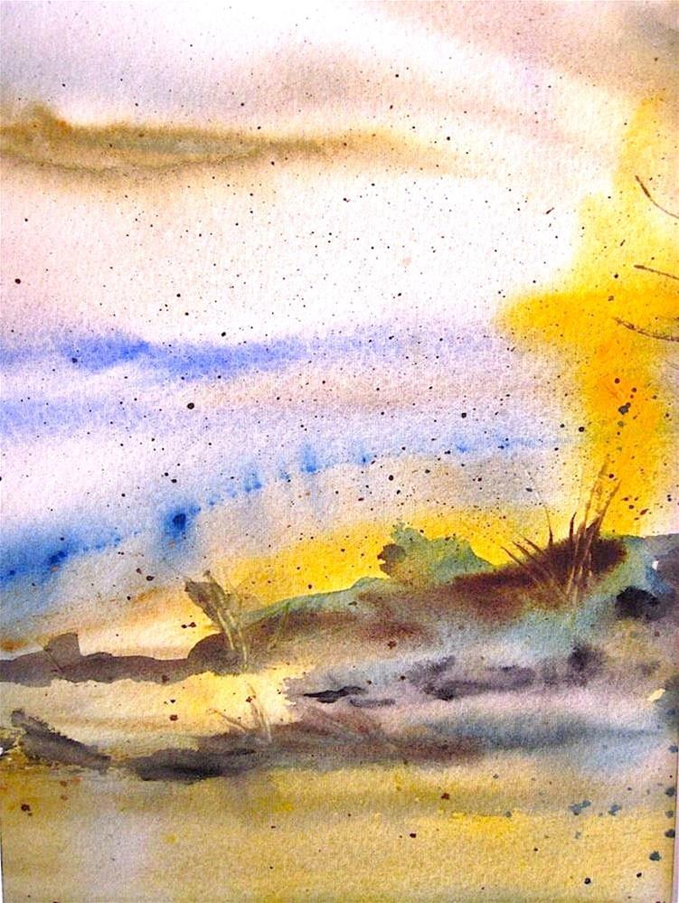 """Sunny Day on Mars"" original fine art by Judith Freeman Clark"