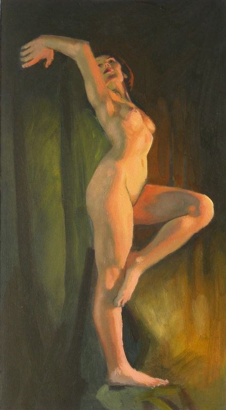 """Standing pose"" original fine art by Peter Orrock"