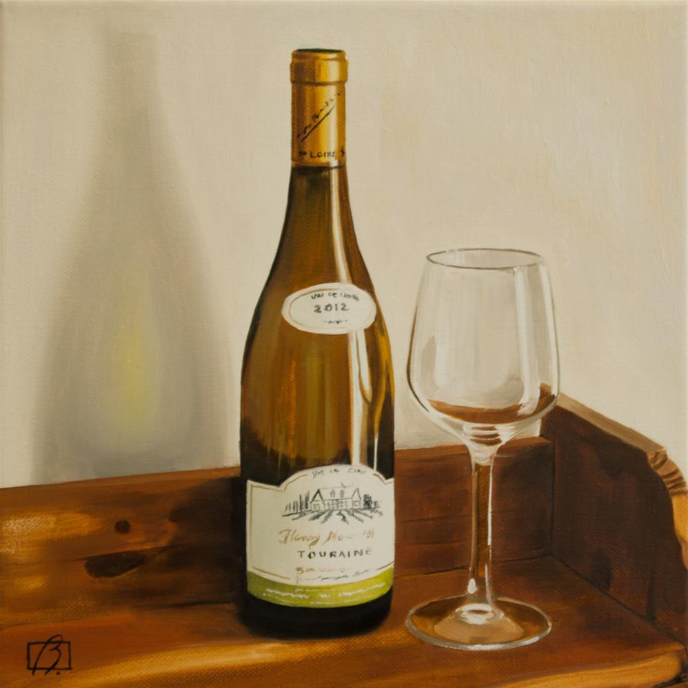 """Wine O'Clock III"" original fine art by Andre Beaulieu"