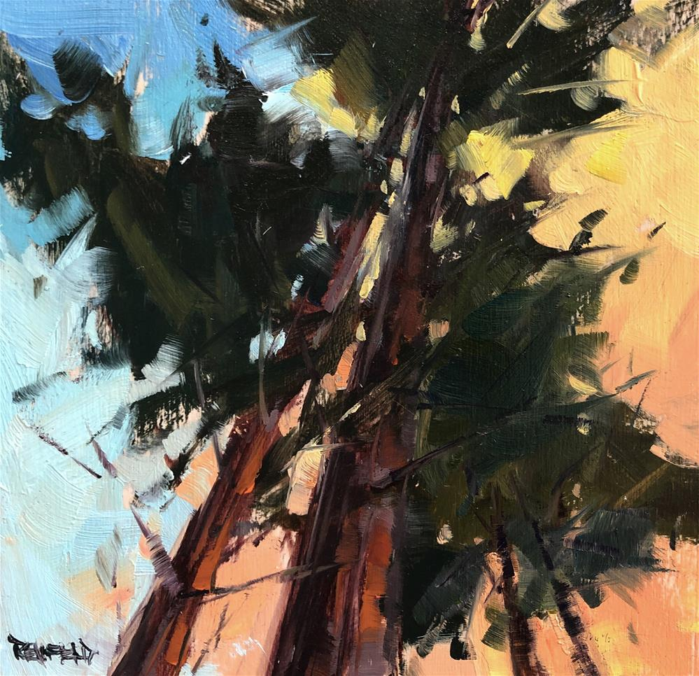 """Tree Tops"" original fine art by Cathleen Rehfeld"