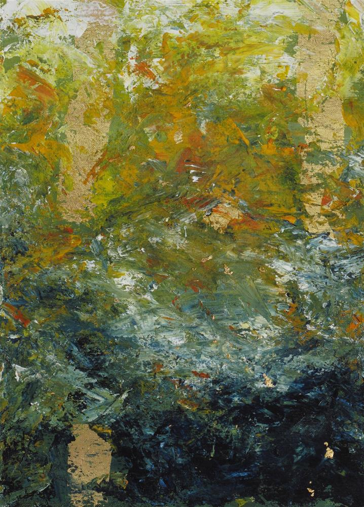 """Fire reflection on water"" original fine art by Anna Starkova"