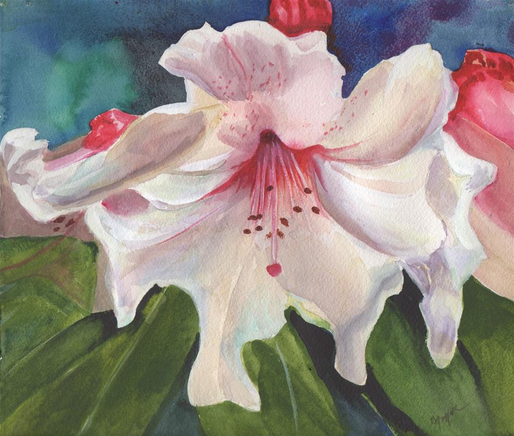 """""""Pink Lily"""" original fine art by Bunny Griffeth"""