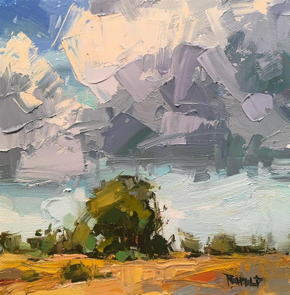 """Afternoon Showers"" original fine art by Cathleen Rehfeld"