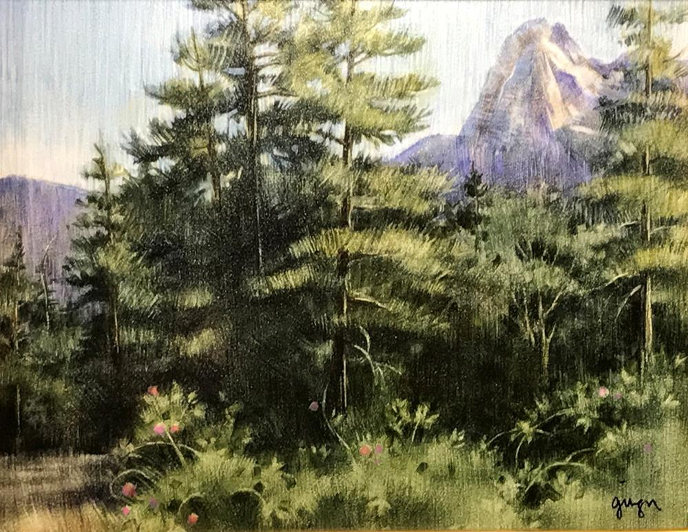 """""""Lily Rock from Tahquitz Meadow"""" original fine art by Ginger Pena"""