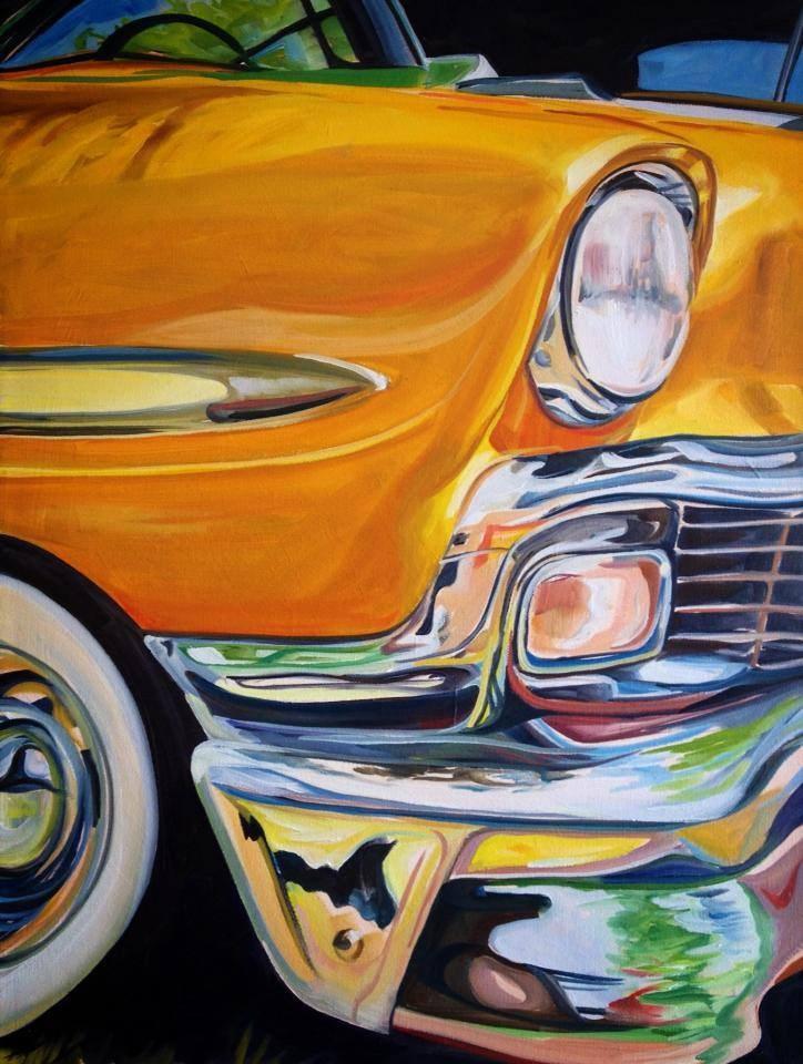"""The 56 Chevy"" original fine art by Lauren Kuhn"
