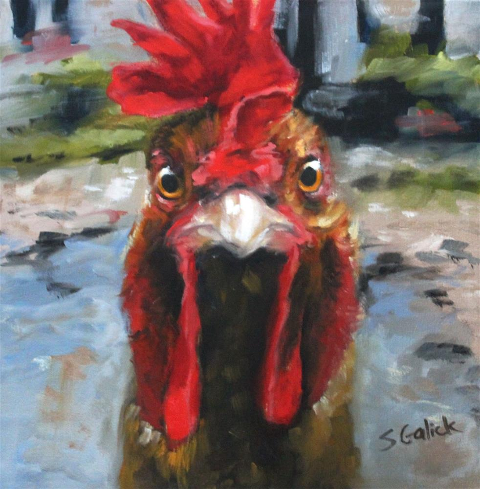 """Just Call Me Red"" original fine art by Susan Galick"