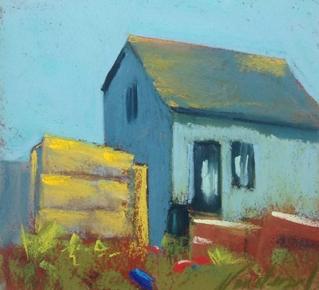 """Lobster House"" original fine art by Karen Vanderpool"