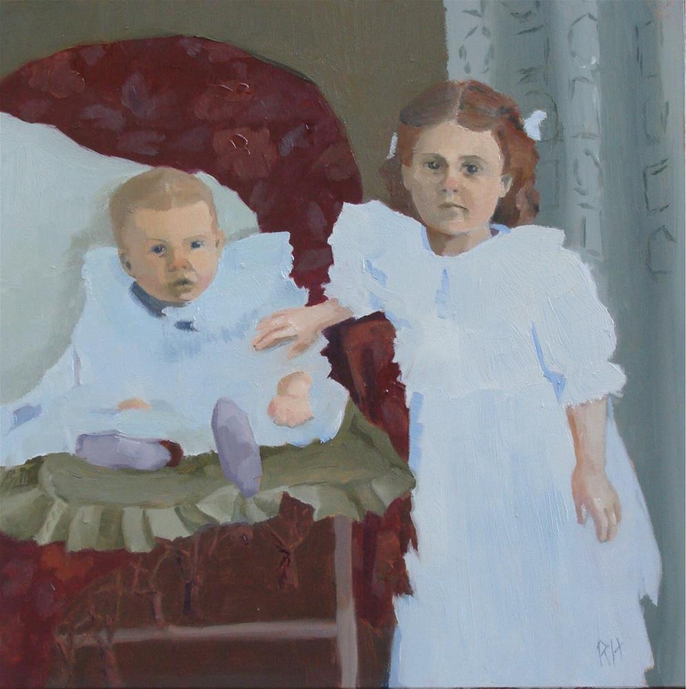 """""""Cecil and Ida"""" original fine art by Rebecca Helton"""