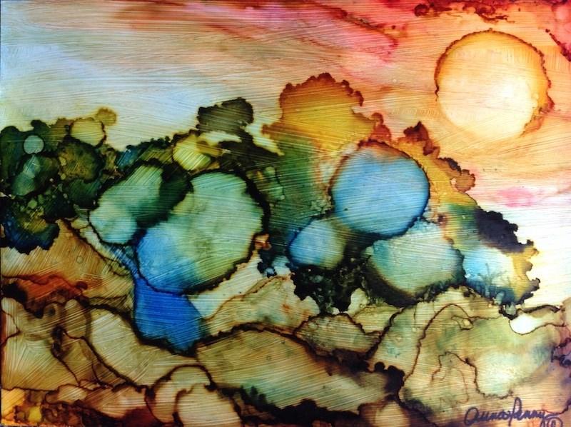"""Autumn Trees"" original fine art by Anna Penny"
