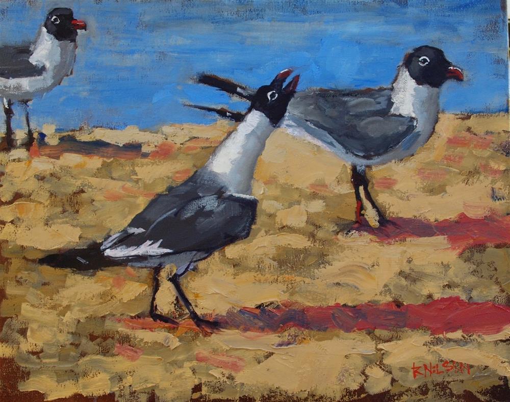 """""""A Dangling Conversation"""" original fine art by Rick Nilson"""