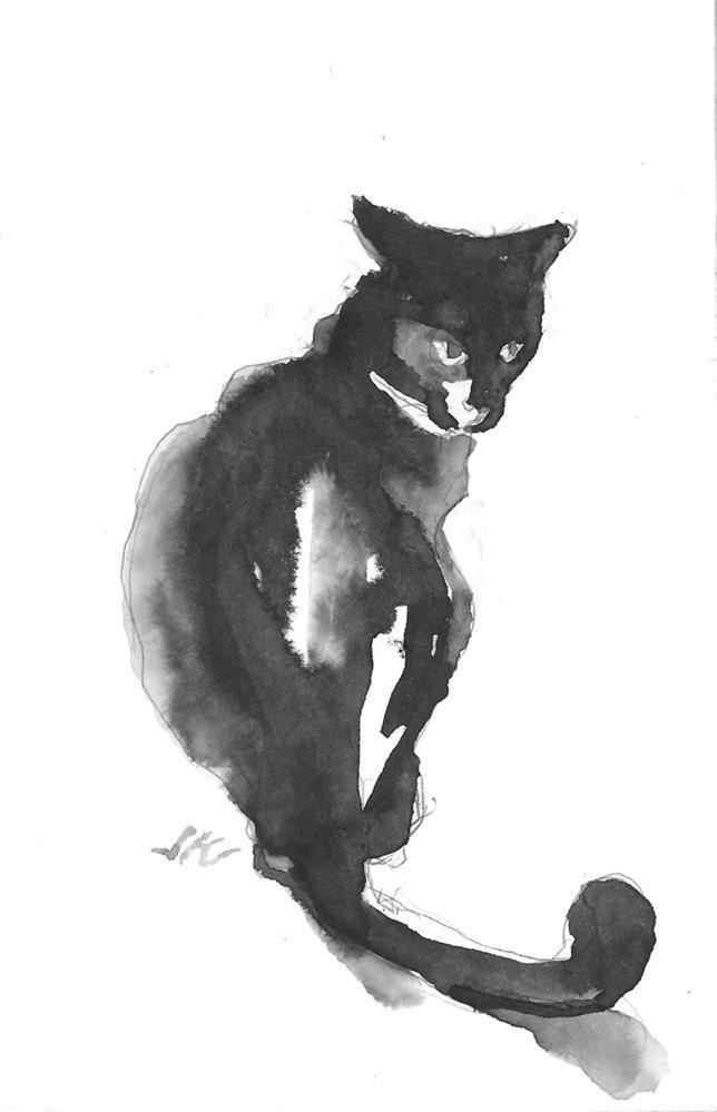 """Daily Cat 201"" original fine art by Jean Krueger"