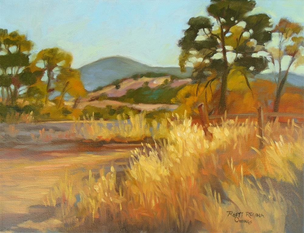 """Warm Summer Day in the Foothills"" original fine art by Rhett Regina Owings"