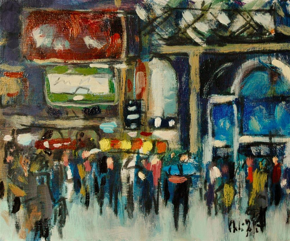 """Victoria Station, Main Hall."" original fine art by Andre Pallat"