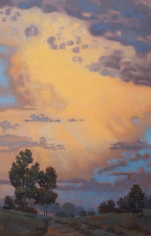 """""""Storms Passing"""" original fine art by Les Dorscheid"""