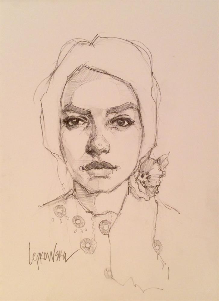 """""""Flower Girl Series 7"""" original fine art by Laurie Johnson Lepkowska"""