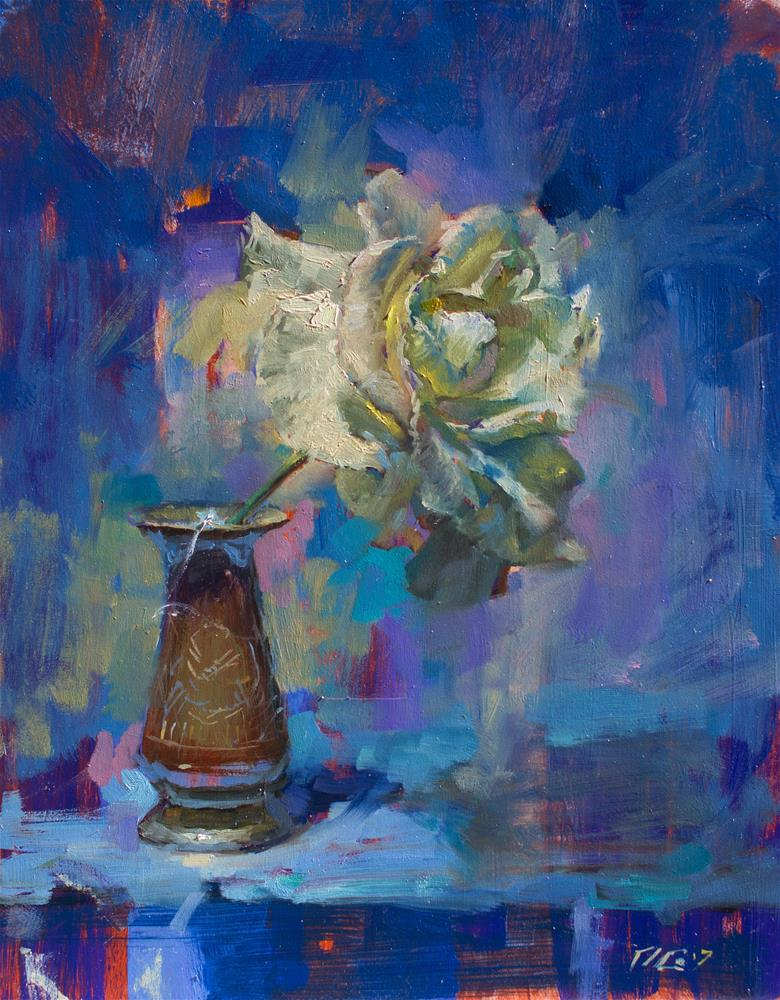 """Rose № 4"" original fine art by Dimitriy Gritsenko"