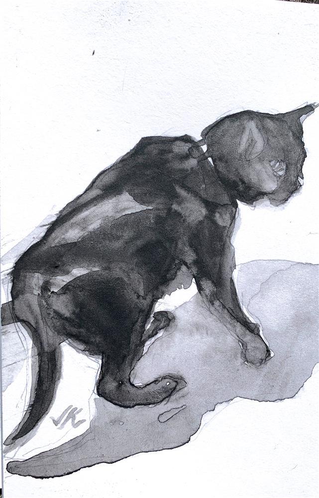 """Daily Cat 126"" original fine art by Jean Krueger"