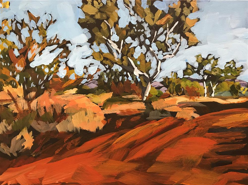 """""""Down Under"""" original fine art by Gina Garding"""