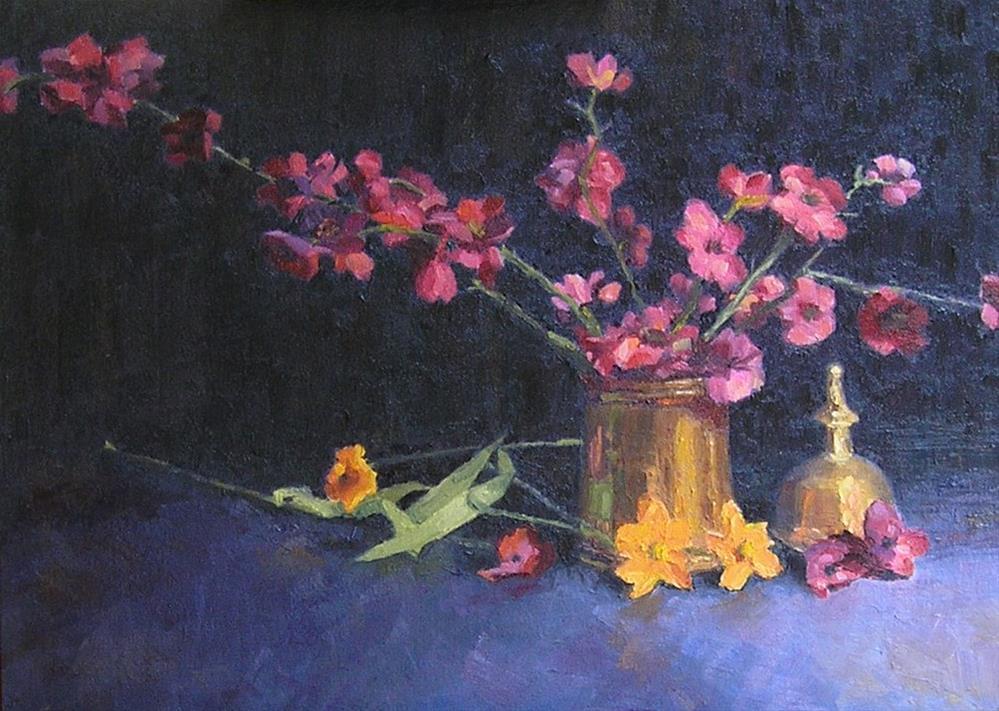 """""""Making Arrangements"""" original fine art by Nina Brodsky"""