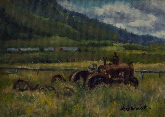 """Tractor From Swan Valley"" original fine art by Lori Brackett"