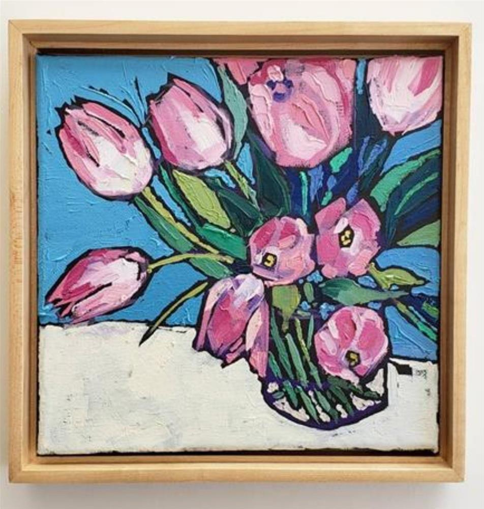 """Pink Tulips"" original fine art by Bhavna Misra"