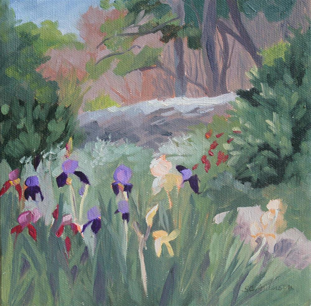 """Nestled irises"" original fine art by Susan Andersen"