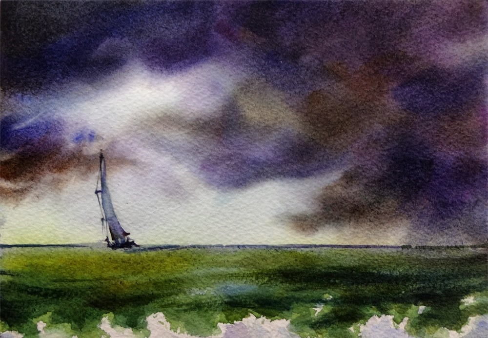 """""""Braving the Storm"""" original fine art by Arena Shawn"""