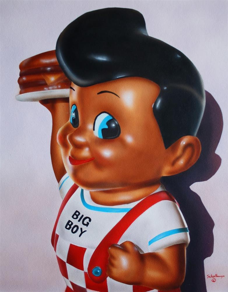 """""""Bob's Big Boy Toy"""" original fine art by Fred Schollmeyer"""