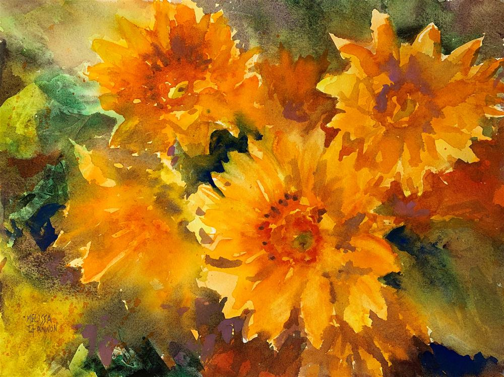 """Sunshine & Flowers"" original fine art by Melissa Gannon"