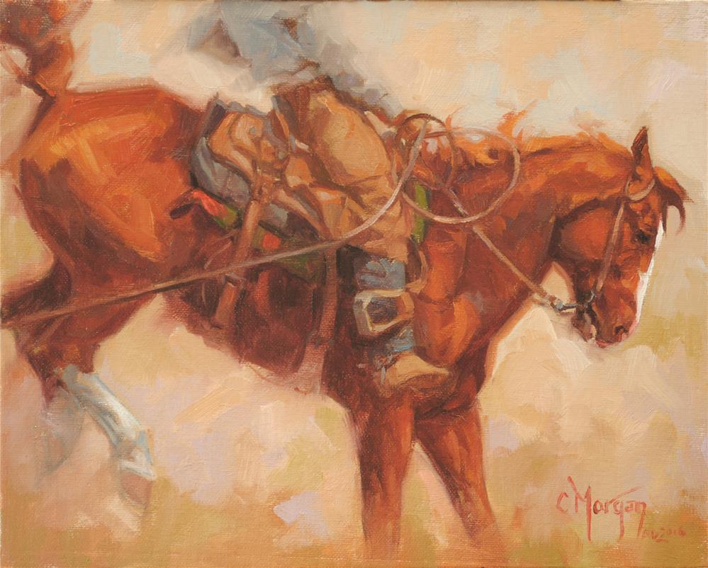 """Green Horse Blues"" original fine art by Cecile W. Morgan"