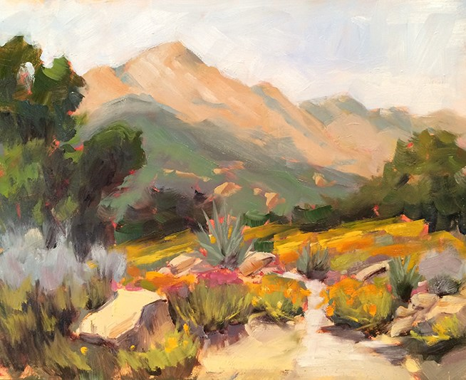 """Mountain View"" original fine art by Deborah Newman"