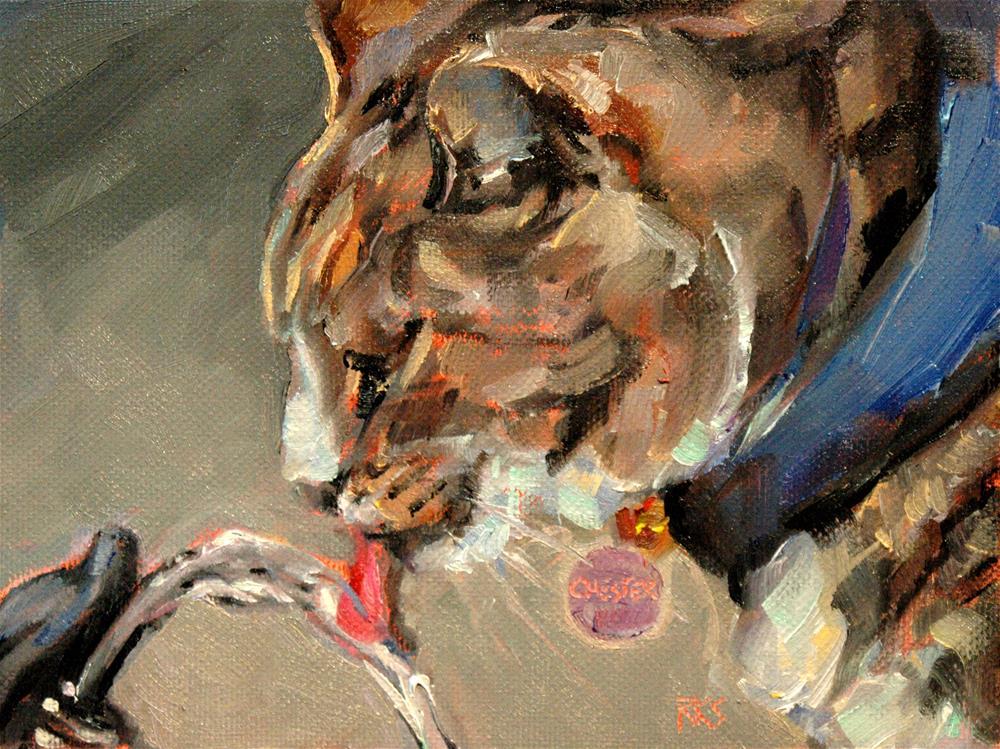 """""""Chester from Sequoia Zoo"""" original fine art by Rachel K Schlueter"""