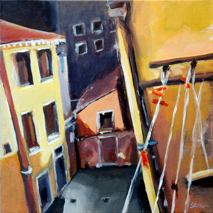 """1811 Venetian Backdrop"" original fine art by Dietmar Stiller"