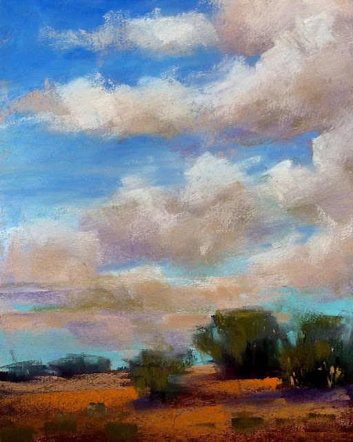 """How to Paint Clouds Sneak Peek"" original fine art by Karen Margulis"