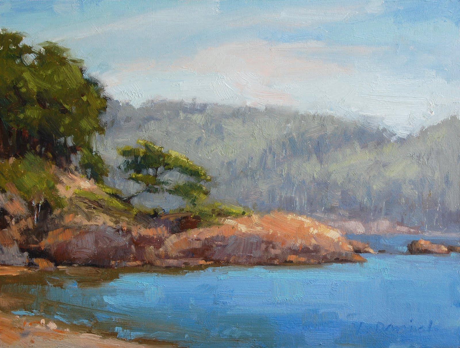 """""""Leaning Tree in Sunlight"""" original fine art by Laurel Daniel"""