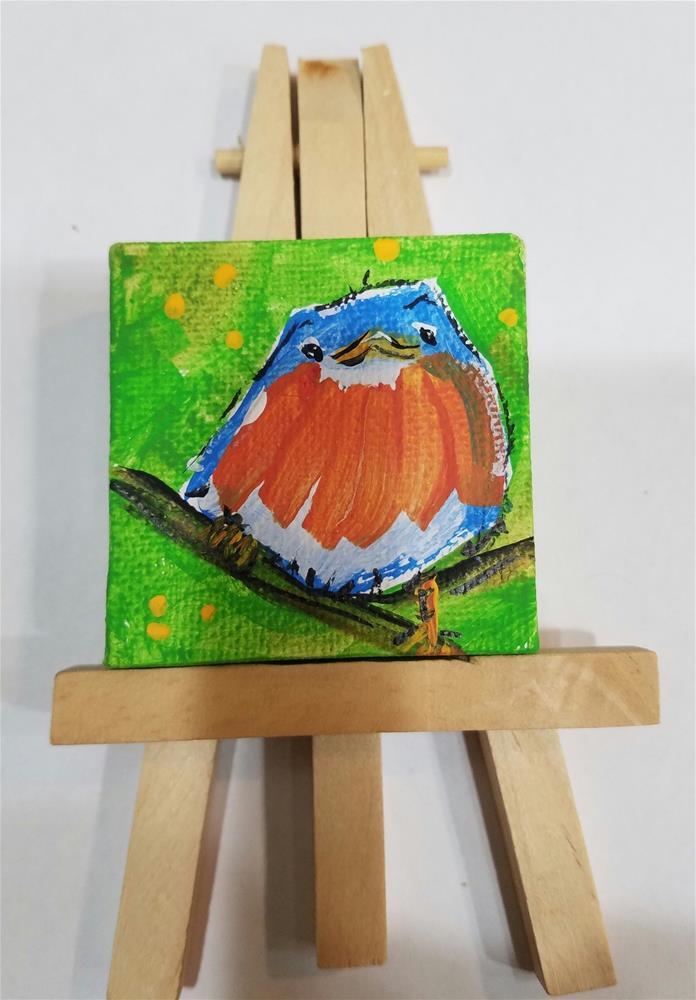 """""""Itty Bitty Robin #655"""" original fine art by Terri Einer"""