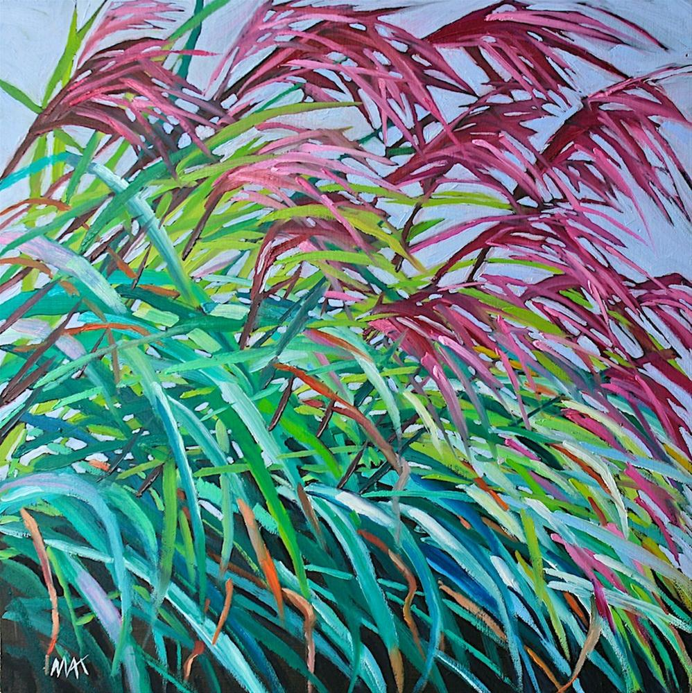 """More Garden Grass"" original fine art by Mary Anne Cary"
