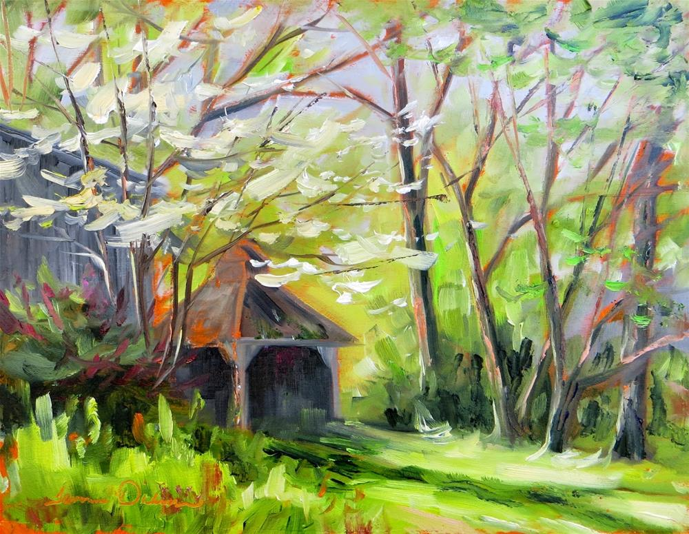 """Dogwood on Chestnut Street"" original fine art by Tammie Dickerson"