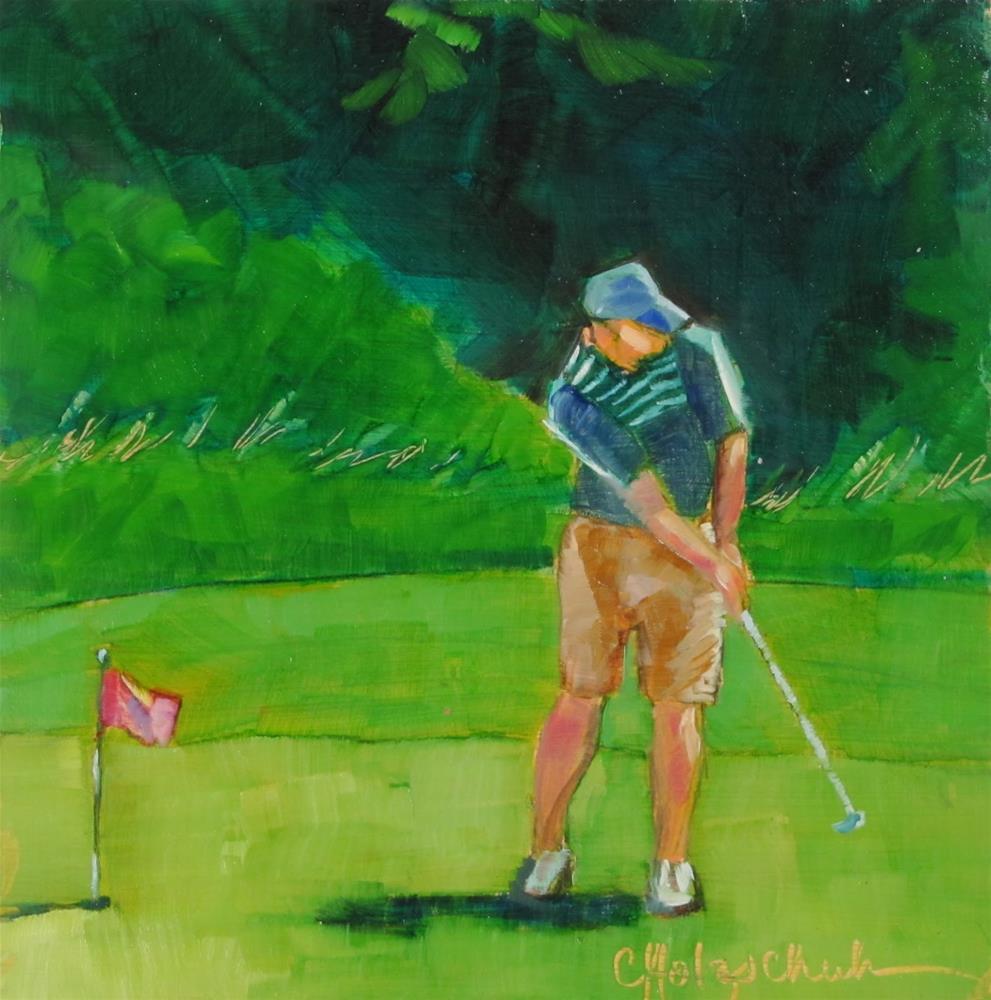 """Putting Practice"" original fine art by Christine Holzschuh"