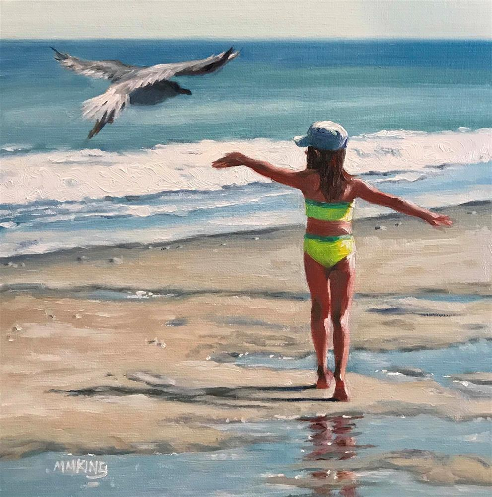 """Carefree"" original fine art by Marilyn M King"