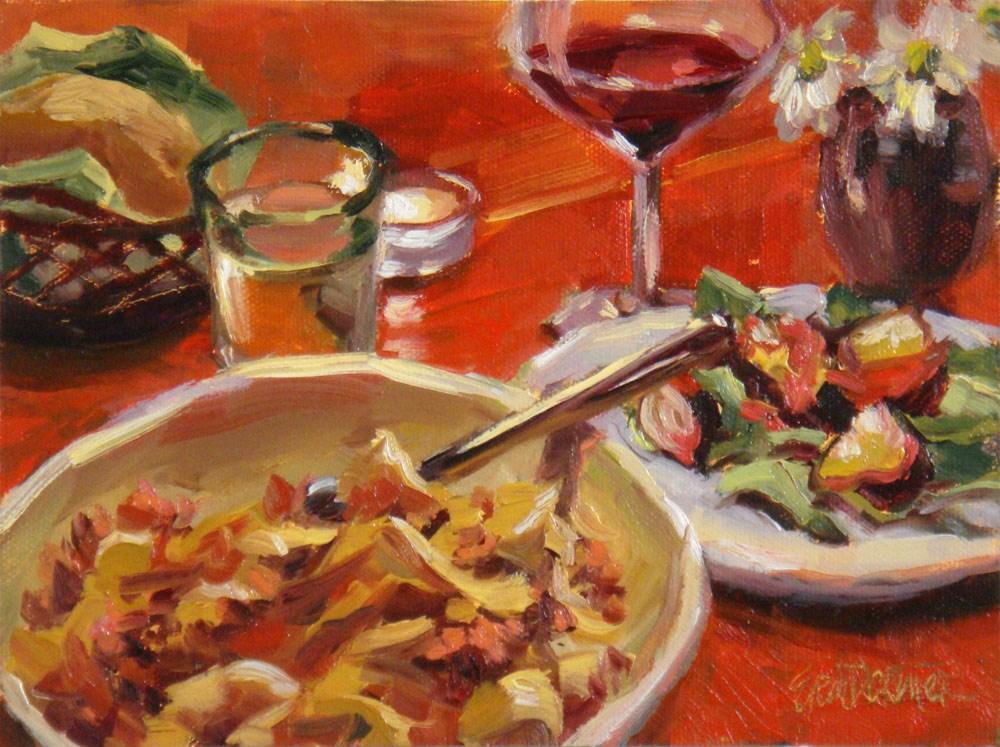 """Secondi Piatti"" original fine art by Erin Dertner"