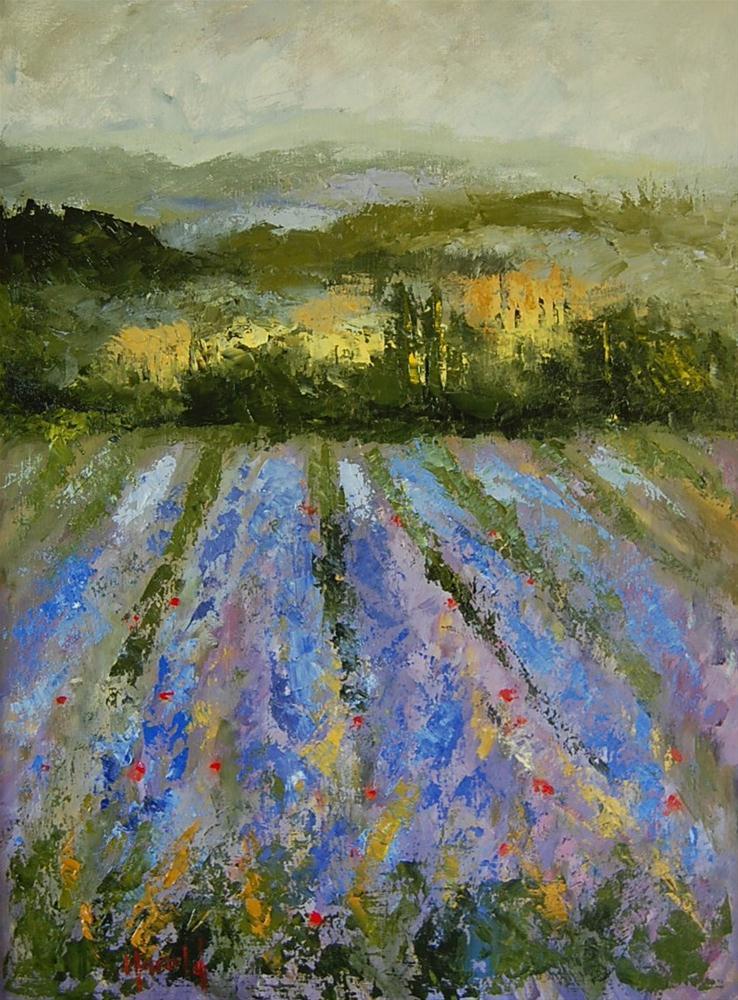 """South of Paris"" original fine art by Deborah Harold"
