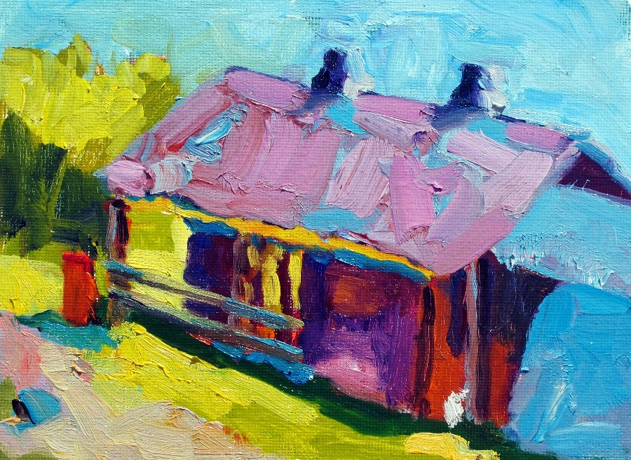 """Russell Farm Art Barn, 12143"" original fine art by Nancy Standlee"