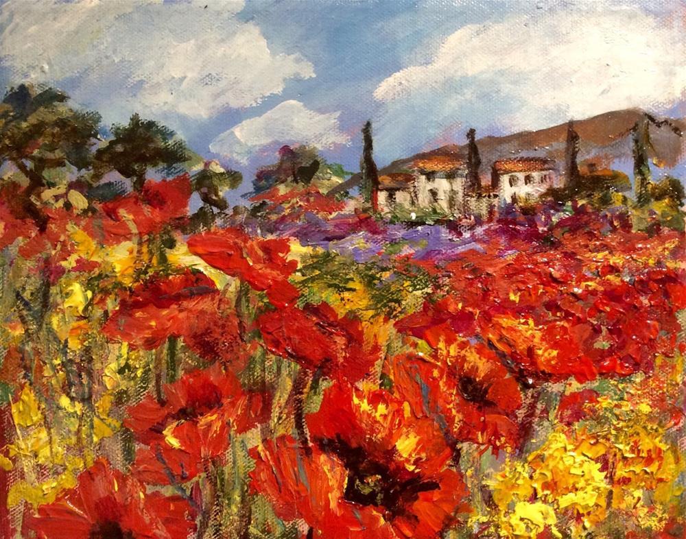 """""""Provence poppies"""" original fine art by Sonia von Walter"""