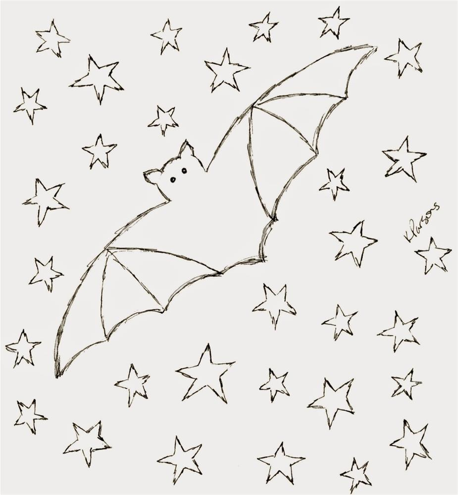 """Batty for Austin, Texas"" original fine art by Kali Parsons"
