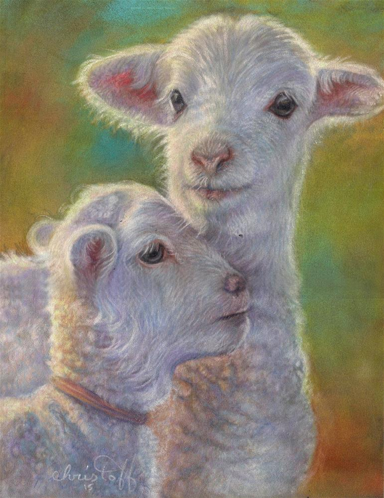 """Siblings"" original fine art by emily Christoff-Flowers"