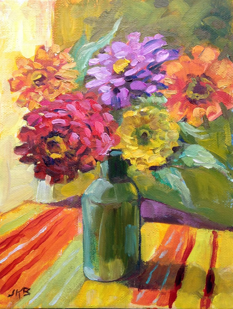 """Flower Power"" original fine art by Jeanne Bruneau"