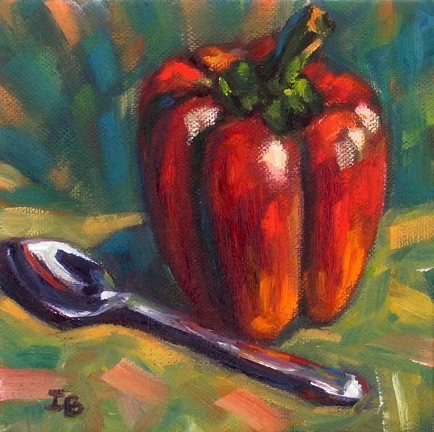 """Why spoon?"" original fine art by Irina Beskina"